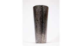 "Image of a 12"" Hammered Silver Vase"