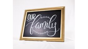"""Image of a """"Our Family"""" Chalkboard Sign"""