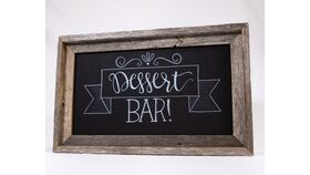 "Image of a ""Dessert Bar"" Chalkboard Sign"