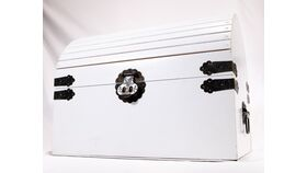 Image of a White Treasure Chest - Reception Card Holder