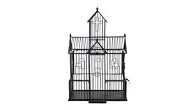 Image of a Black Wire Church - Reception Card Holder