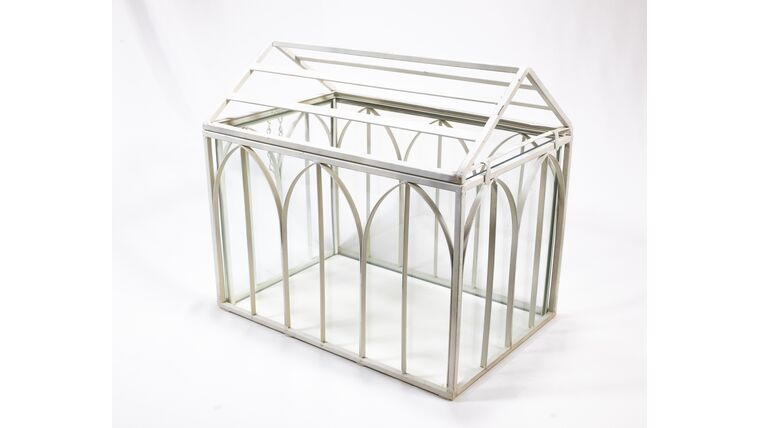 Picture of a Ivory Glass Church - Reception Card Holder