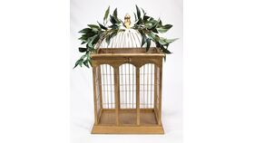 Image of a Gold Bird Cage - Reception Card Holder