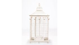 Image of a Off White Bird Cage - Reception Card Holder
