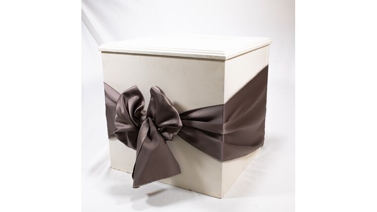 Picture of a Ivory Card Cube - Reception Card Holder