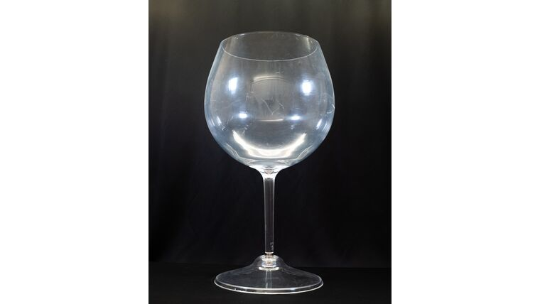 Picture of a Jumbo Wine Glass - Reception Card Holder