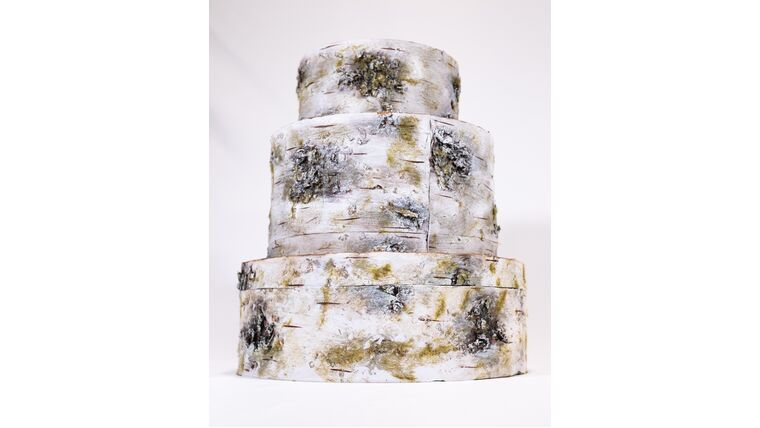 Picture of a Birch Stack Card Box - Reception Card Holder
