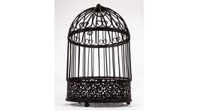 Image of a Round Bird Cage - Reception Card Holder