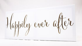 "Image of a ""Happily Ever After"" Sign - White & Gold (Canvas)"
