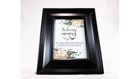 "Image of a ""In loving memory of Those Who Are Forever Present in our Hearts.."" - Black Frame/Floral"