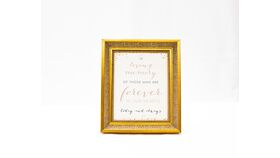 "Image of a ""In loving memory....."" Sign - Gold Frame/Blush Print"