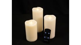 "Image of a 7"" Battery Operated Pillar Candles with Remote"