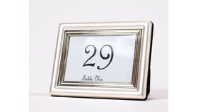 "Image of a Table Number - 3"" Small Assorted Silver Picture Frame"