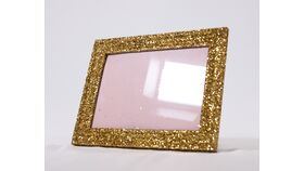 Image of a Table Number Holder - 5x7 Gold Glitter Frame