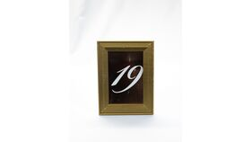 "Image of a Table Number - 6"" Gold Frame/Rose Gold Numbers"