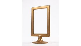Image of a Table Number Holder - 4x6 Gold Pedestal