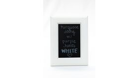 Image of a Table Number Holder - 6x8 Modern White Frame