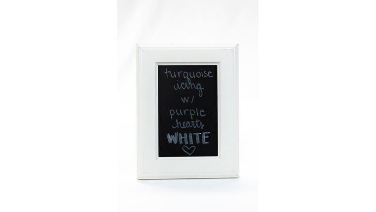 Picture of a Table Number Holder - 6x8 Modern White Frame