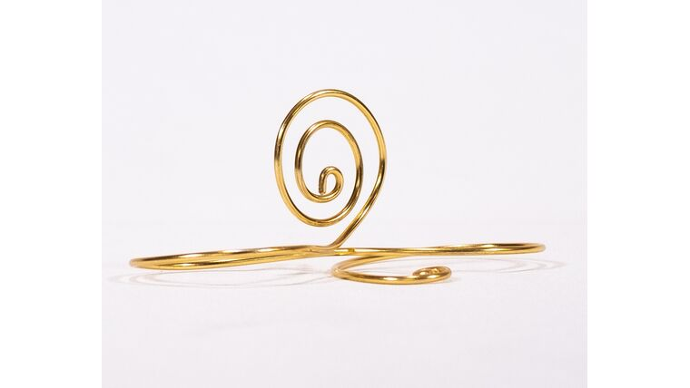 Picture of a Table Number Holder - Double Gold Swirl