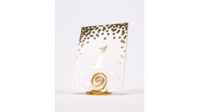 Image of a Table Number Holder - Gold Swirl