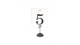 Image of a Table Number Holder - Antique Black Spiral Top
