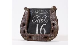 "Image of a Table Number - 5"" Horse Shoe"