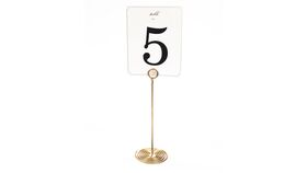 "Image of a Table Number Holder - 7.25"" Gold Swirl"