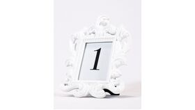 Image of a Table Number - White Ornate Frame