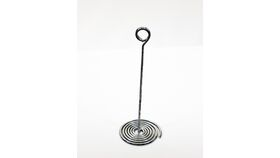 "Image of a Table Number Holder - 7.25"" Silver Swirl"