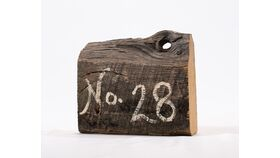 "Image of a Table Number - 6"" Rustic Barn Board"