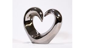 Image of a Silver Heart Metal Sculpture