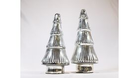 Image of a Silver Glass Christmas Trees 12""