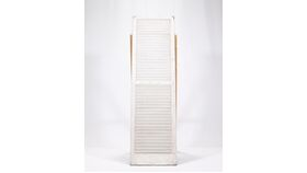 Image of a White Distressed Shutters-Placecard Holder 16x55""