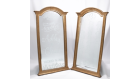 Image of a Large Arch Gold Framed Mirror