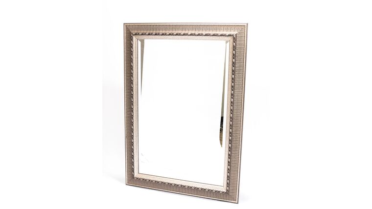 Picture of a Large Silver Ornate Mirror