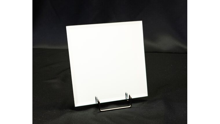 """Picture of a 8"""" Square Beveled Mirror"""