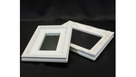 Image of a Distressed White Framed Mirrors-Assorted Sizes