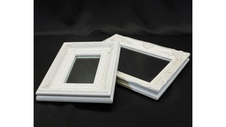 Picture of a Distressed White Framed Mirrors-Assorted Sizes
