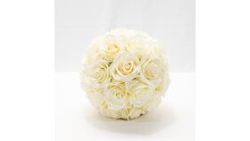 """Image of a 7"""" Rose Ball - Ivory"""