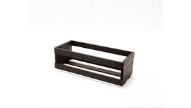 Image of a Dark Wood Slatted Box