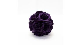 "Image of a 7"" Rose Ball - Purple"