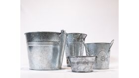 Image of a Galvanized Pail - Assorted Patterns & Sizes