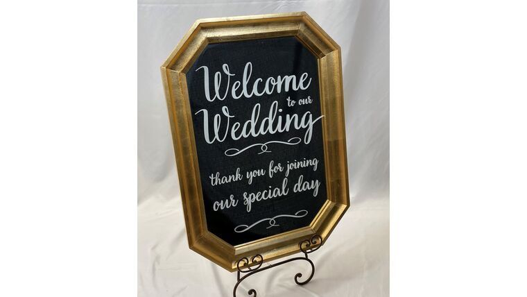 Picture of a Welcome to Our Wedding