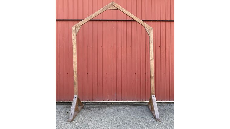 Picture of a Arch - Peak - Wooden - Stained