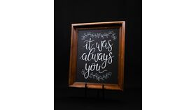 "Image of a ""It Was Always You"" Chalkboard Sign"