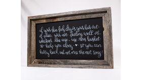 Image of a Bathroom Basket Chalkboard Sign