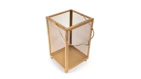 """Image of a Gold Mesh Caddy with Handle - 10"""""""