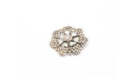 Image of a Large Rhinestone Broach Draping Accessory - Hearts