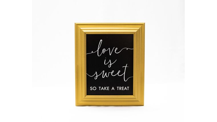 "Picture of a ""Love is Sweet...."" Sign -  Gold Frame/Black Matte"
