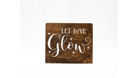 "Image of a ""Let Love Glow"" Sign - Wood"
